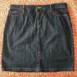 LLBean Jean skirt